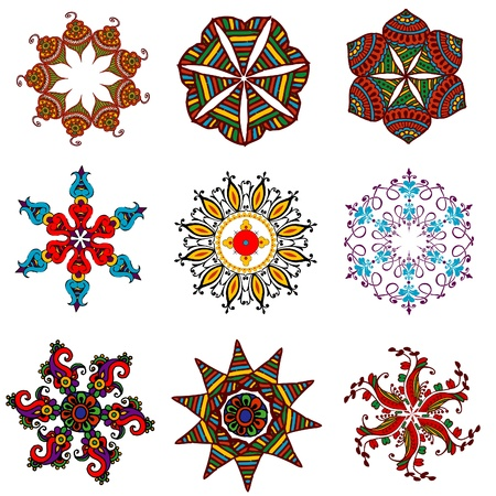 retro flower elements for design Vector