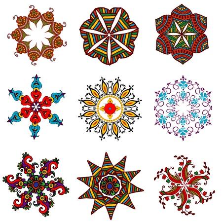 rangoli: retro flower elements for design