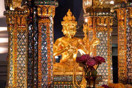 Erawan Shrine, Famous Landmark at Night in Bangkok, Thailand