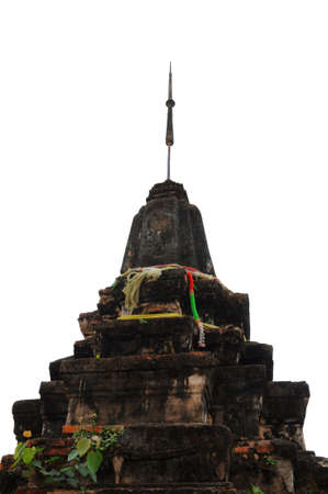 Ancient pagoda with Isolated photo
