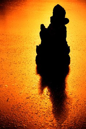 parvati: Silhouette  Ganesha Hindu God Stock Photo