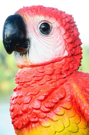 await: Beautiful Ceramic Parrot Stock Photo