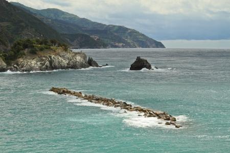 monterosso: Seaside view in Monterosso, Cinque Terre, Italy
