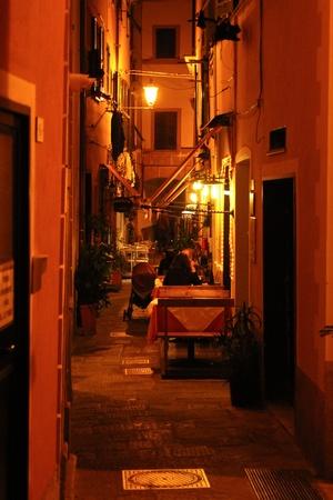 monterosso: Monterosso at night, Cinque Terre Stock Photo