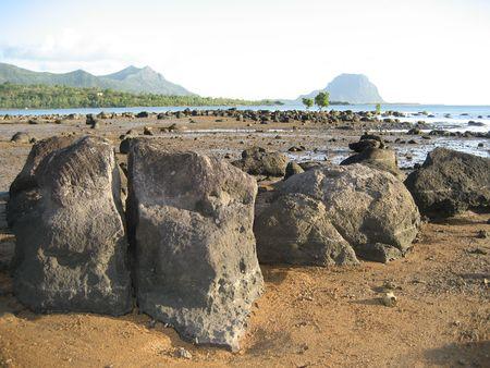 Seaside in Les Salines, Mauritius Stock Photo - 3682263