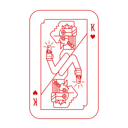 play card: King of hearts playing card