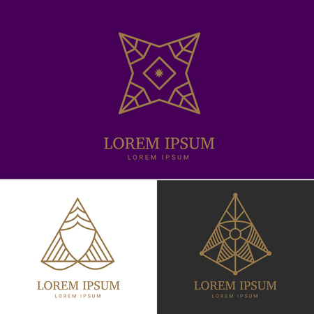 royal logo: Abstract geometric logo element. Vector template for your company.