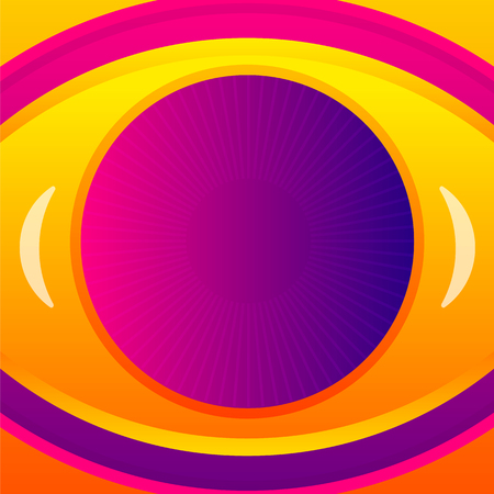 abstract eye: Abstract eye icon background. Vector template.
