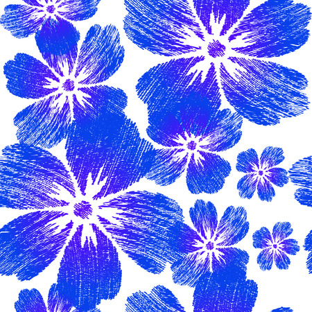 Embroidered blue flowers on white background seamless pattern embroidered blue flowers on white background seamless pattern for design wallpaper cover invitation mightylinksfo