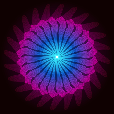 digital background: Purple blue fractal swirl elements. Circle abstract object. Raster copy.