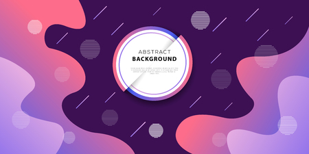 Abstract gradient geometric background design with liquid shapes. Colorful wavy minimal composition. Modern banner or poster template. Vector illustration