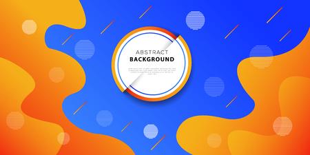 Colorful geometric background design. Fluid shapes composition. Futuristic banner or poster template. Vector illustration Ilustração