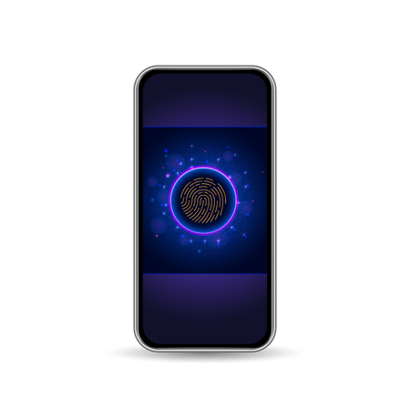 3d realistic smartphone with 5G symbol. New generation of high speed mobile network and internet communication technology. 5g wireless internet wifi connection. Vector illustration