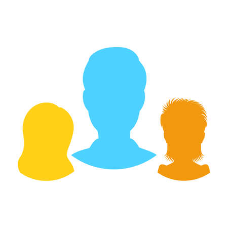 User Group vector icon isolated on white background, people crowd, symbol of business people in flat style for web site design, mobile app.