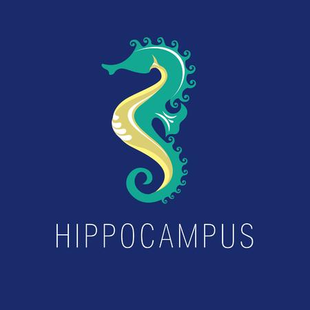 hippocampus: seahorse, sea horse, hippocampus, sea, logo, branding, corporate identity Illustration