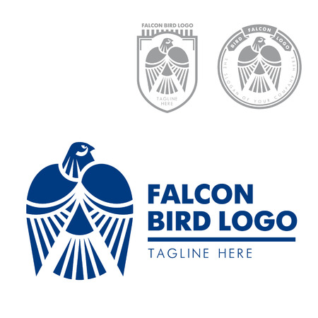 rigorous: Template corporate company signs. Bird, eagle, falcon. Corporate style. Male logo. Serious, rigorous.