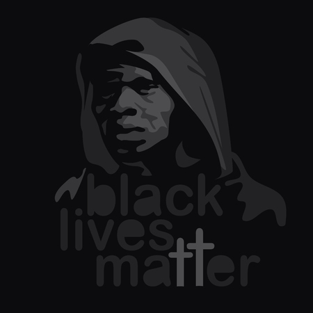 matter: illustration for posters, t-shirts or stickers of protest: black lives matter
