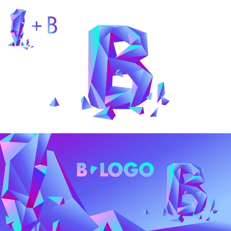 detritus: Template B brand name companies. Corporate Identity for the company with the letter B Illustration
