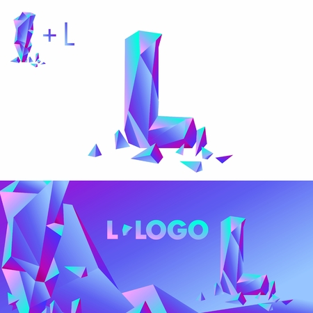 detritus: Template L brand name companies. Corporate Identity for the company with the letter L