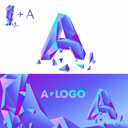detritus: Template A brand name companies. Corporate Identity for the company with the letter A