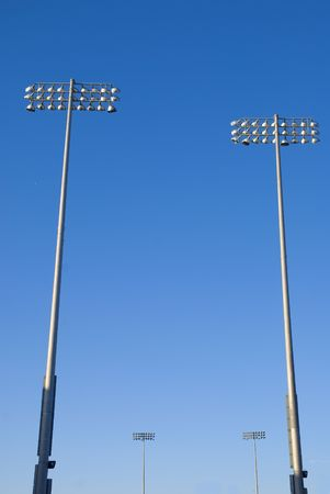 High light posts from a Cricket stadium in Hove, east sussex, uk