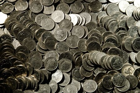 lots of 10 pences coins