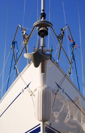 luxurious white yacht