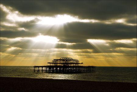 brighton west pier, east sussex, uk Stock Photo