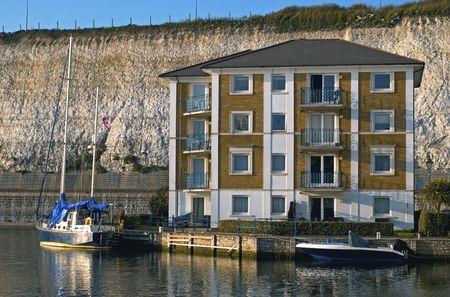 building of luxiourus flats in brighton marina village, eat sussex, uk