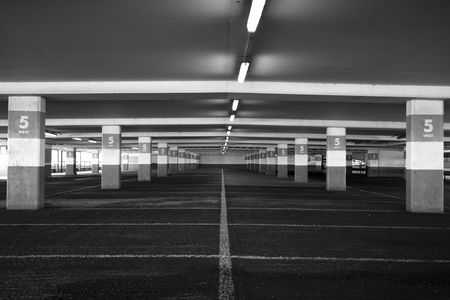 Empty floor in a public parking.