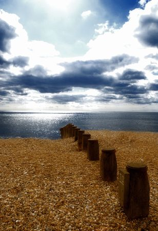 View of the beach in Eastbourne, west sussex, uk