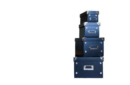 set of four desk boxes
