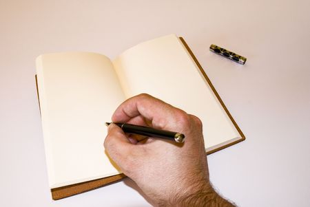 hand made leather notebook