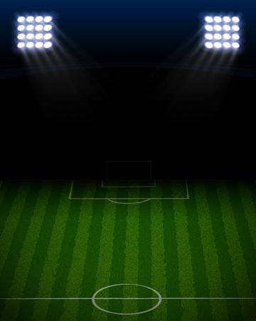 soccer stadium with blue spotlight portrait Banco de Imagens - 26559489