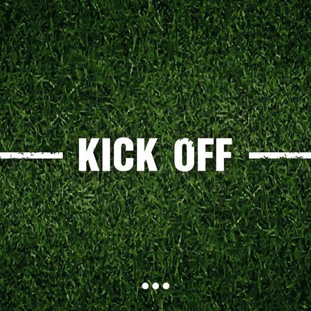 fond de texte: herbe de football avec le texte de fond