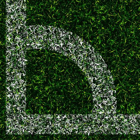 corner kick: corner kick texture grass design vector background