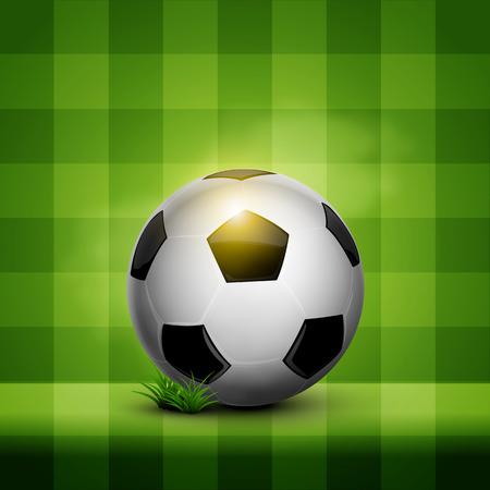 soccer ball on the green field pattern wallpaper
