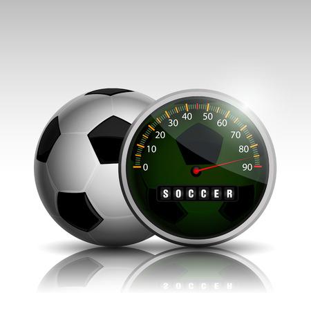 soccer ball clock full time soccer match 90 minute Ilustração