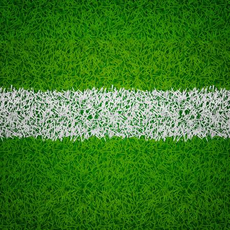 top view texture grass design with white line vector Banco de Imagens