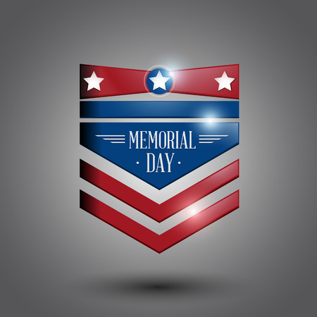 memorial day symbol gray background. vector illustration