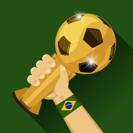 Soccer Trophy for Brazil Vector illustration
