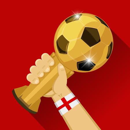 Soccer Trophy for England Vector illustration