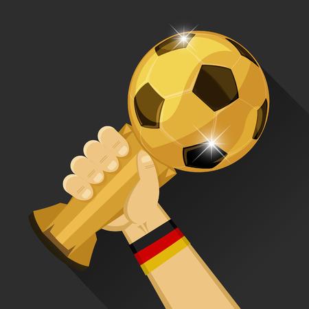 Soccer Trophy for Germany Vector illustration