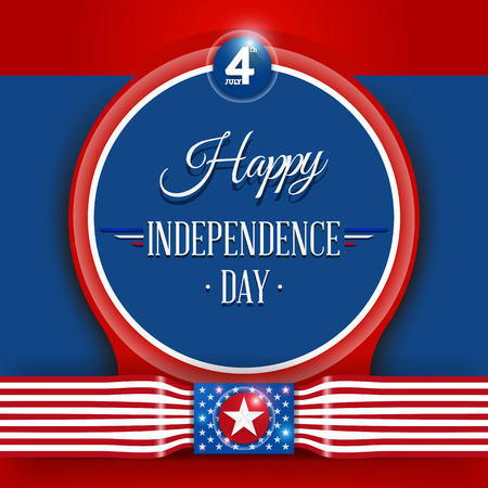 4th of July, American Independence Day background vector