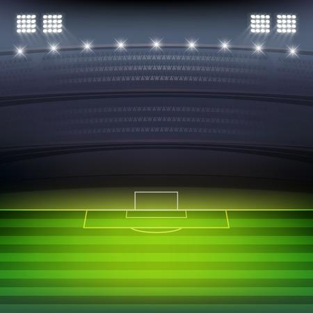 Soccer stadium at night background vector Ilustração