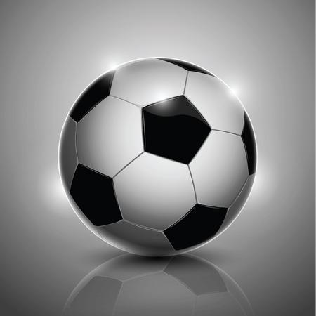 Classic soccer ball isolated on gray background Ilustração