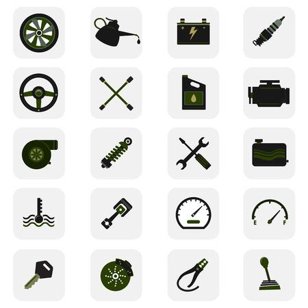 Car service icons. dark style icons collection. Ilustração