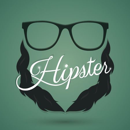 Hipster sign and symbol. Vector and illustration