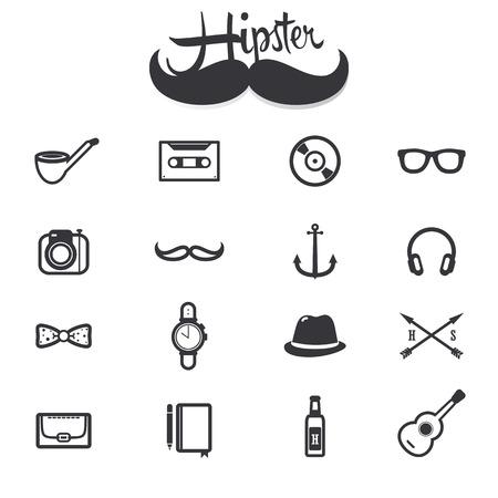 Hipster icons collection set. sign and symbol vector Ilustração