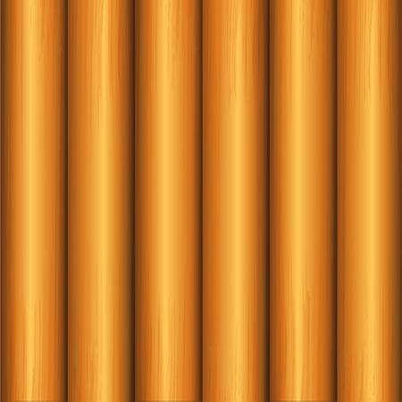 Old wooden plank background. Realistic wood texture.Vector illustration. Ilustração